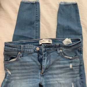 A&F ankle skinny jeans